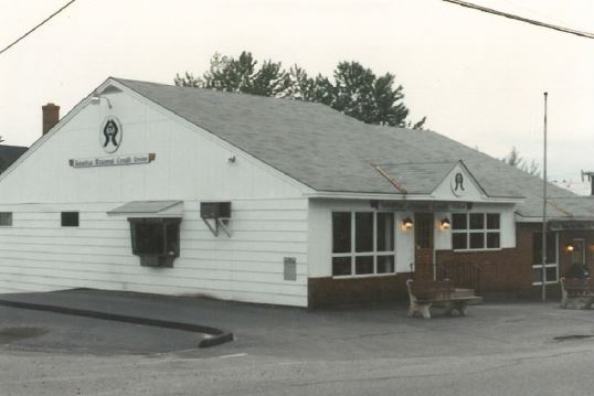 Exterior photo of Sabattus Region Credit Union over 40 years ago