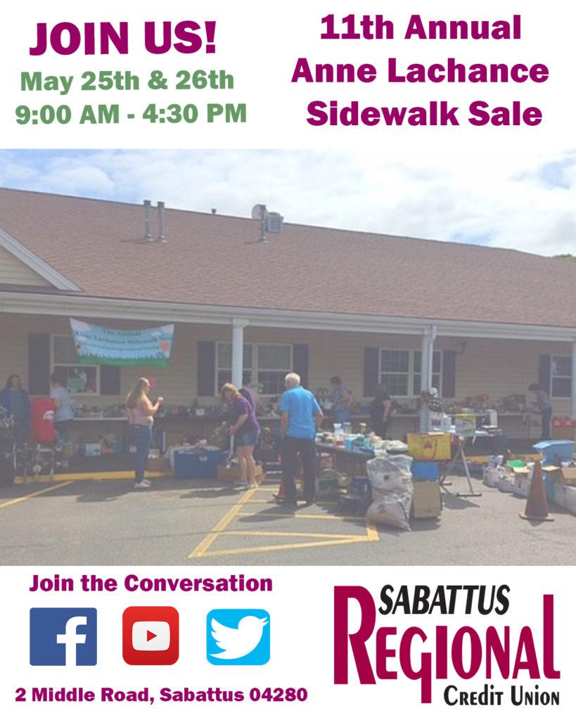 Invitation to sidewalk sale