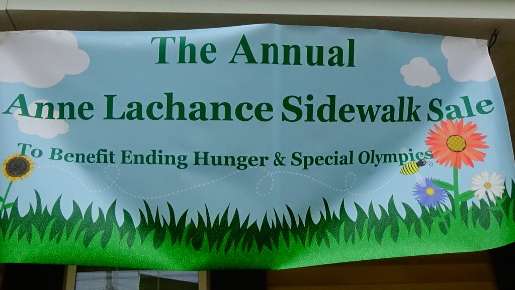 anne lachanche sidewalk sale banner