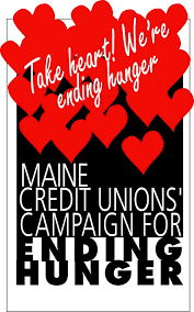 ending hunger logo by maine credit unions