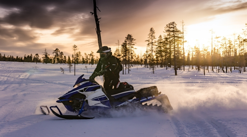 Snowmobile_sunset